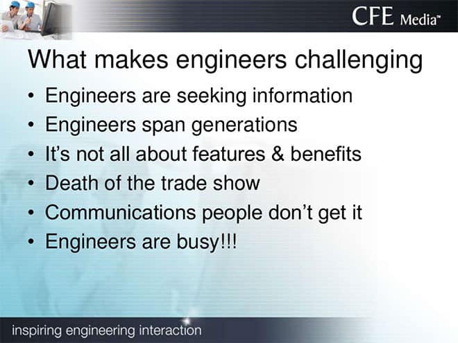What makes engineers challenging