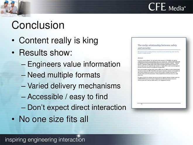 content is king for marketing to engineers