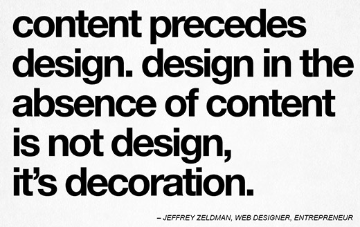 Jeffrey Zweldman on content and web design