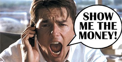 Show me the money - Tom Cruise as Jerry Maguire